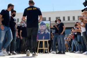 Les policiers se sont réunis pour rendre hommage à Éric Masson