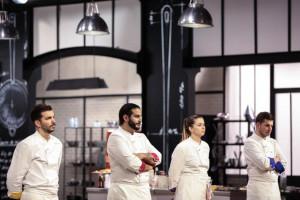 """Pierre, Mohamed, Sarah et Matthias dans la saison 12 de """"Top Chef"""""""
