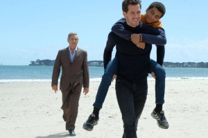 """Gérard Lanvin; Victor Belmondo et  Yoann Eloundou Noah dans """"Envole-moi"""""""