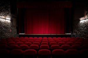 Une photo prise d'une salle de cinéma vide prise le 14 mars 2021 à Nantes. (Illustration)