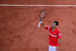 Novak Djokovic à Roland-Garros le 13 juin 2021