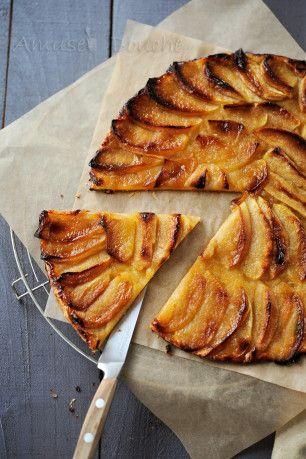 Une tarte fine aux pommes