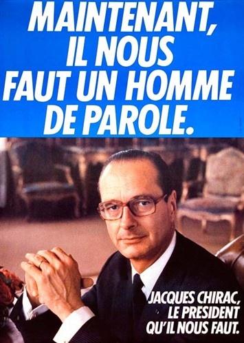 L'affiche de campagne de 1981 de Jacques Chirac