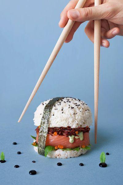 Si vous hésitez entre des sushis et un burger : tentez le sushi burger