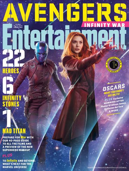 Nebula (Karen Gillan) et Scarlet Witch (Elizabeth Olsen)