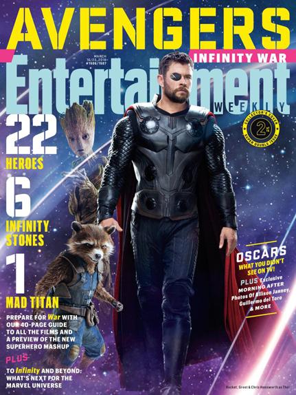 Groot (Vin Diesel), Rocket Raccoon (Bradley Cooper) et Thor (Chris Hemsworth)