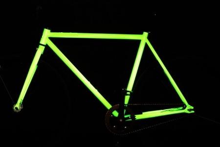 Cadre de vélo phosphorescent