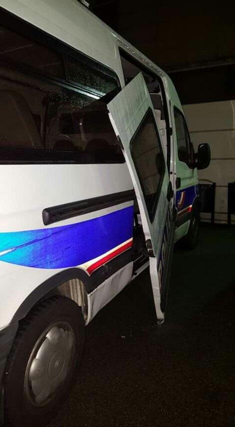 Une fourgonnette de police à Brest