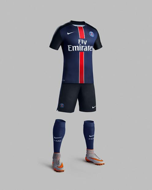 Le maillot du Paris Saint-Germain en Ligue 1 pour la saison 2015-2016
