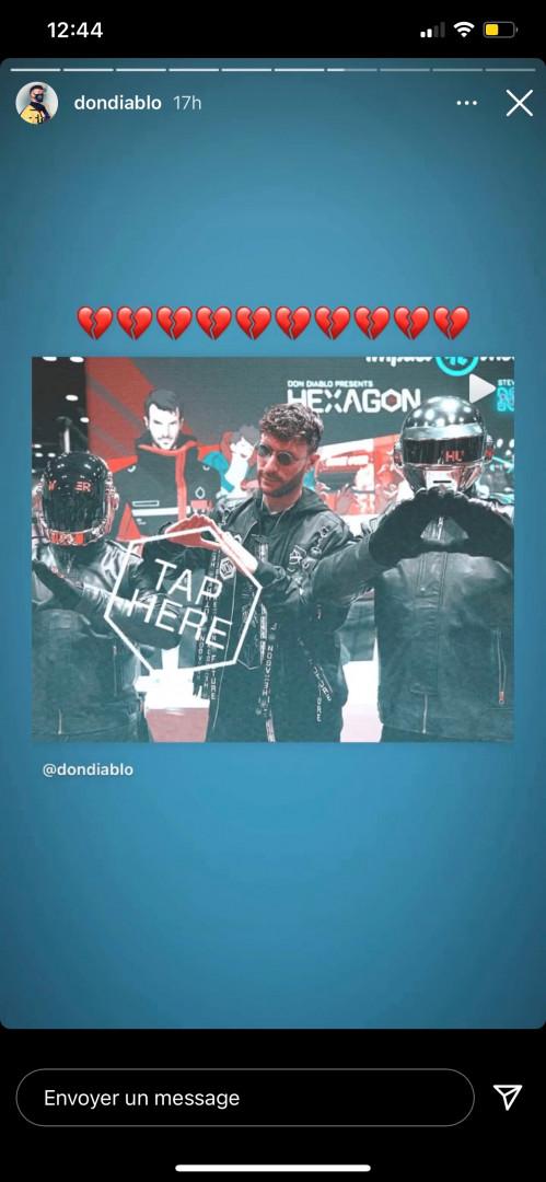 Don Diablo a souhaité rendre hommage au duo robotique