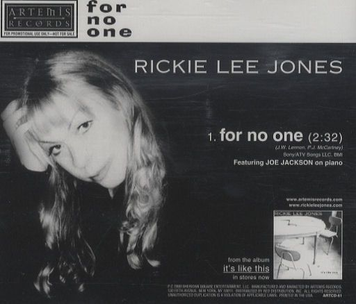For no one - Rickie LEE JONES