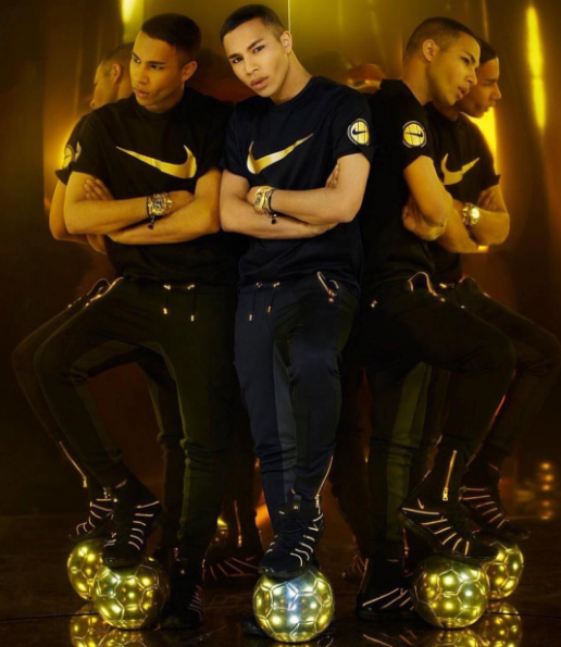 Olivier Rousteing signe une collection avec NikeLab à l'occasion de l'Euro de football 2016