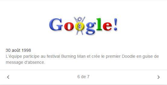 Le premier doodle de Google en 1998