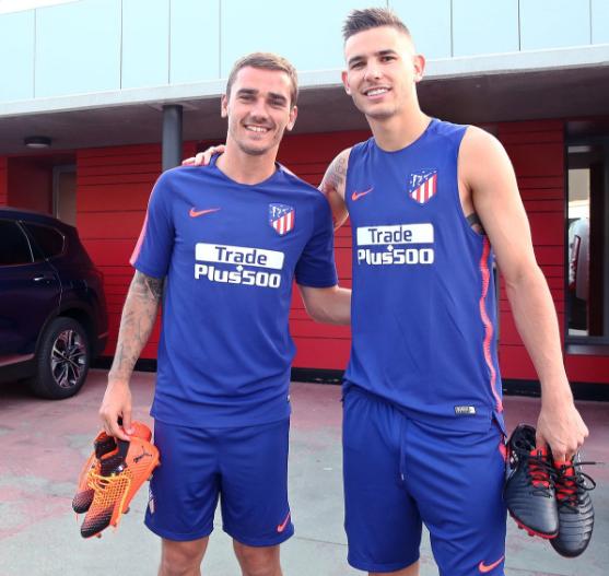 Antoine Griezmann et Lucas Hernandez se sont retrouvés avec plaisir à l'Atlético