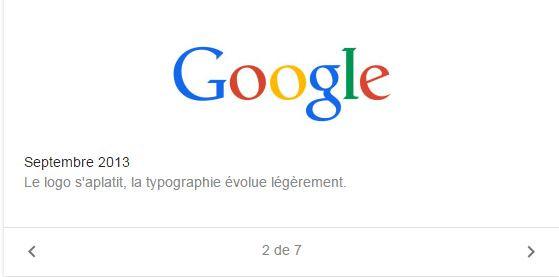 Un peu de flat design pour Google en septembre 2013