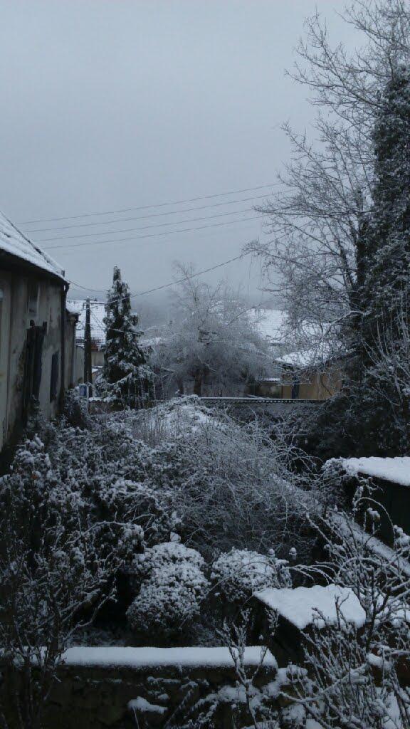 La neige à Dampmart (Seine-et-Marne) le 6 février 2018