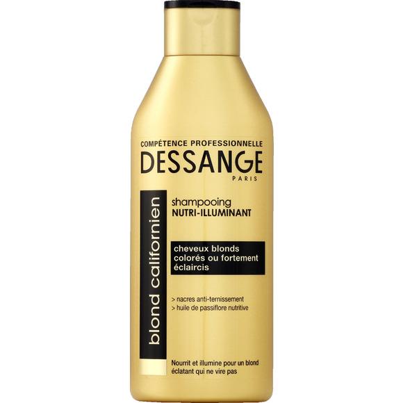 Shampooing nutri-illuminant, Blond californien, Dessange, autour de 5 euros
