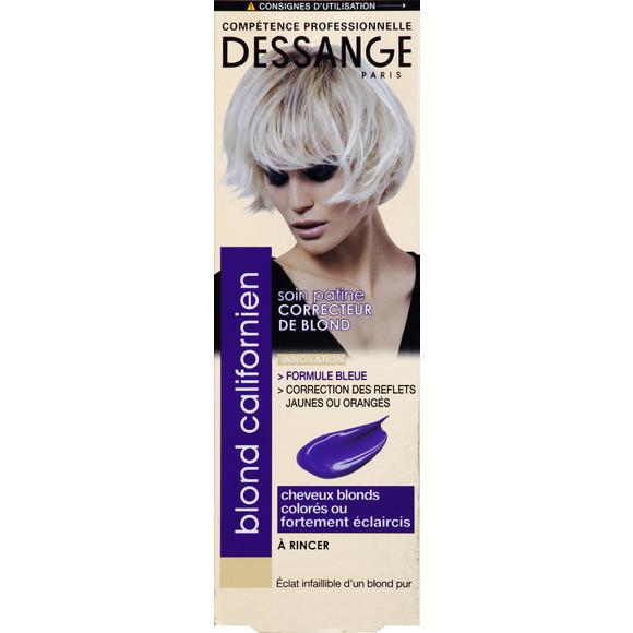 Soin patine correcteur de blond, Blond californien, Dessange, autour de 9 euros