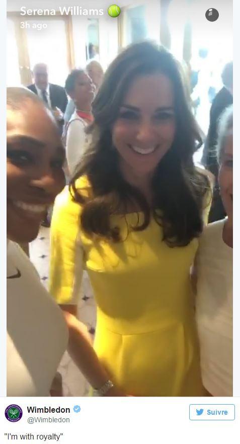 Petit selfie avec la tenniswoman Serena Williams en juillet 2016