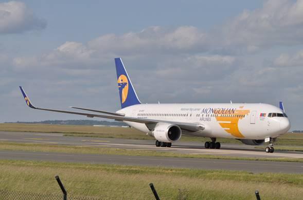 Un avion de Mongolian Airlines