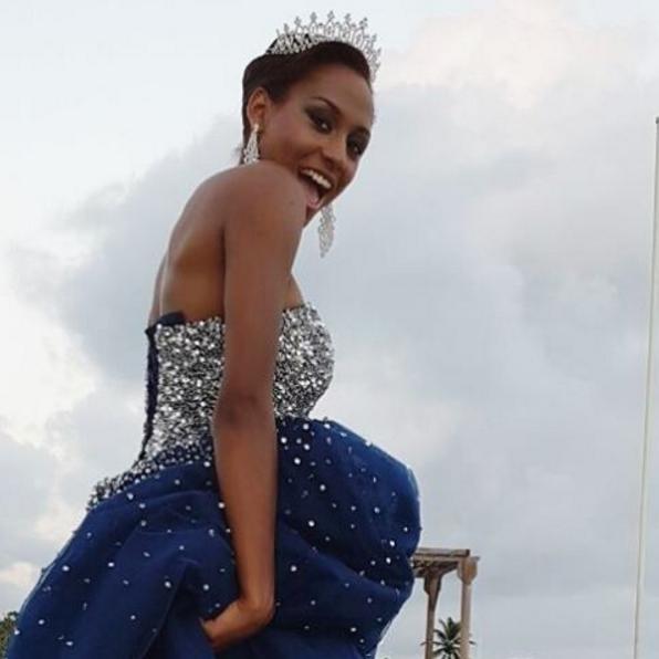 Ravie d'avoir été élue Miss Guadeloupe, portera-t-elle bientôt la couronne de Miss France ?