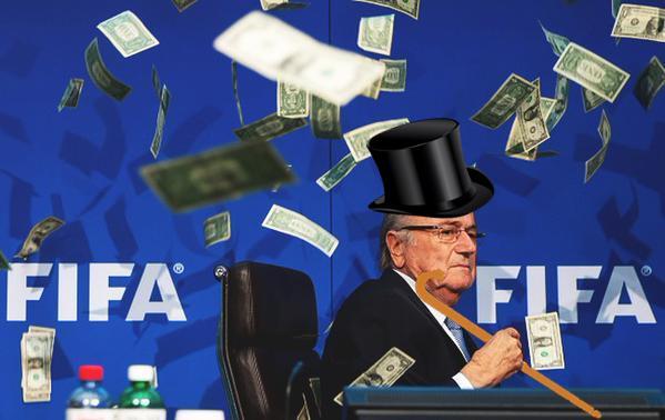 Sepp Blatter, vainqueur d'une partie de Monopoly
