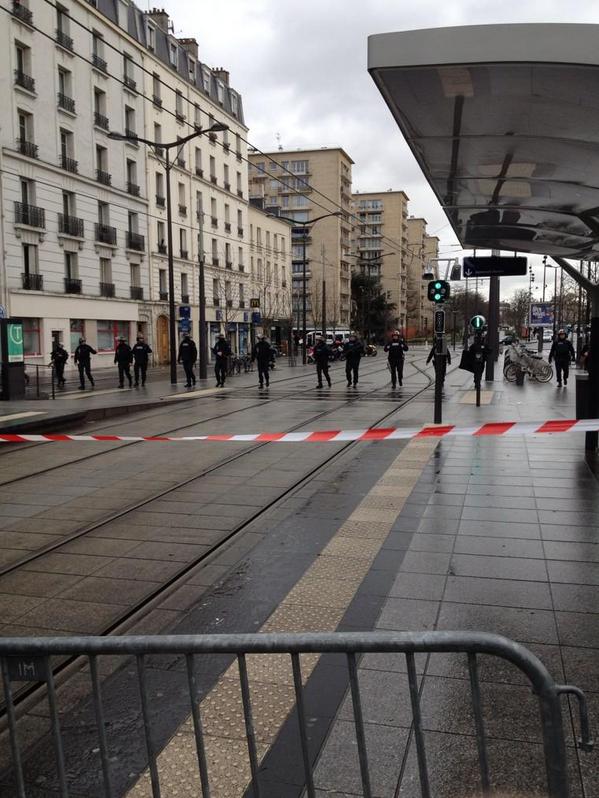 Le quartier de la Porte de Vincennes est désert