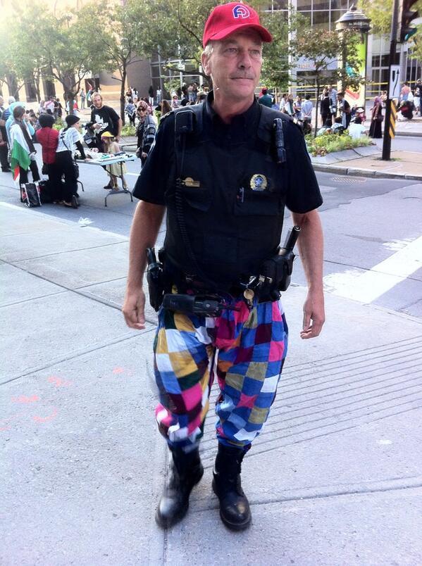 Pour se faire entendre, les policiers n'ont peur de rien