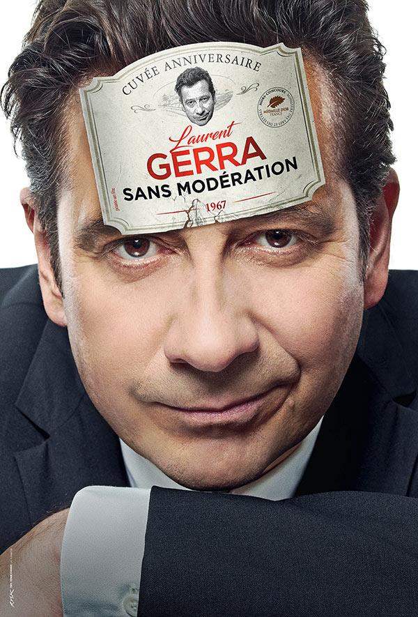 """Laurent Gerra signe """"Sans modération"""" un spectacle où il croque politiques, acteurs et chanteurs. En tournée partout en France."""