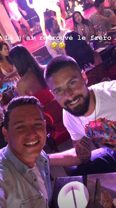Florian Thauvin qui retrouve son partenaire Olivier Giroud en soirée