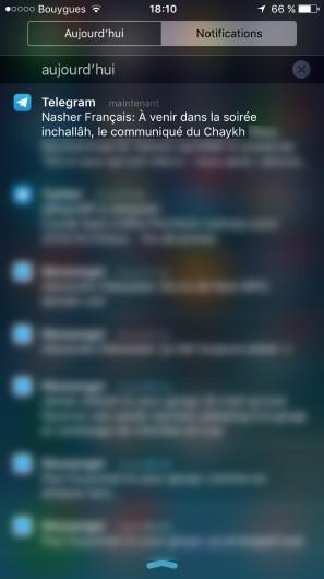Les messages s'affichent sous la forme de notifications sur les smartphones des membres comme n'importe quelle push mobile de média