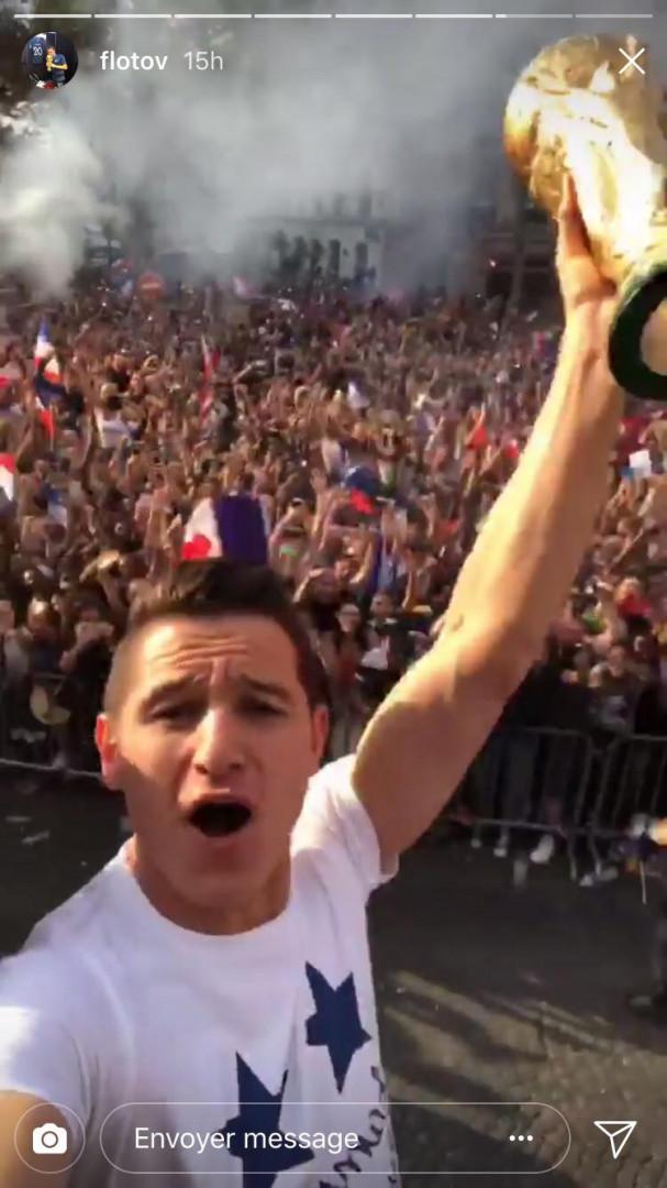 Heure de gloire pour Florian Thauvin et la Coupe du Monde sur les Champs-Élysées