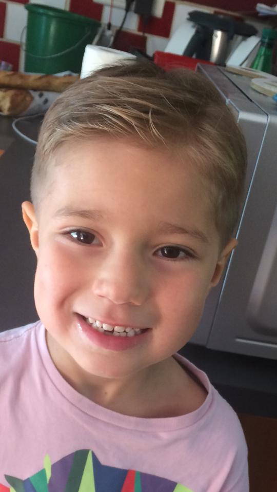 Gabriel après son don de cheveux
