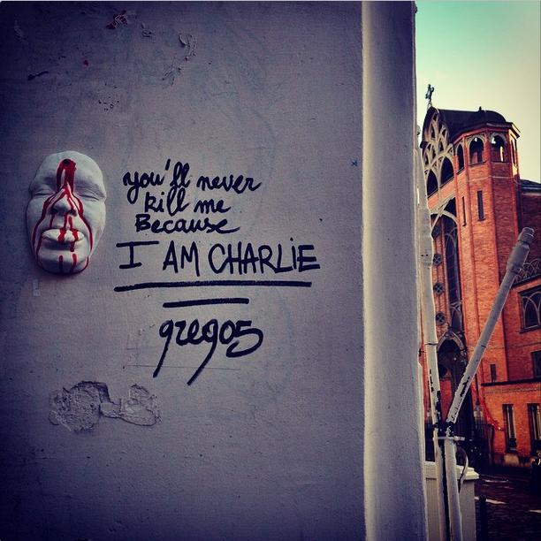 """""""Tu ne me tueras jamais parce que je suis Charlie"""""""