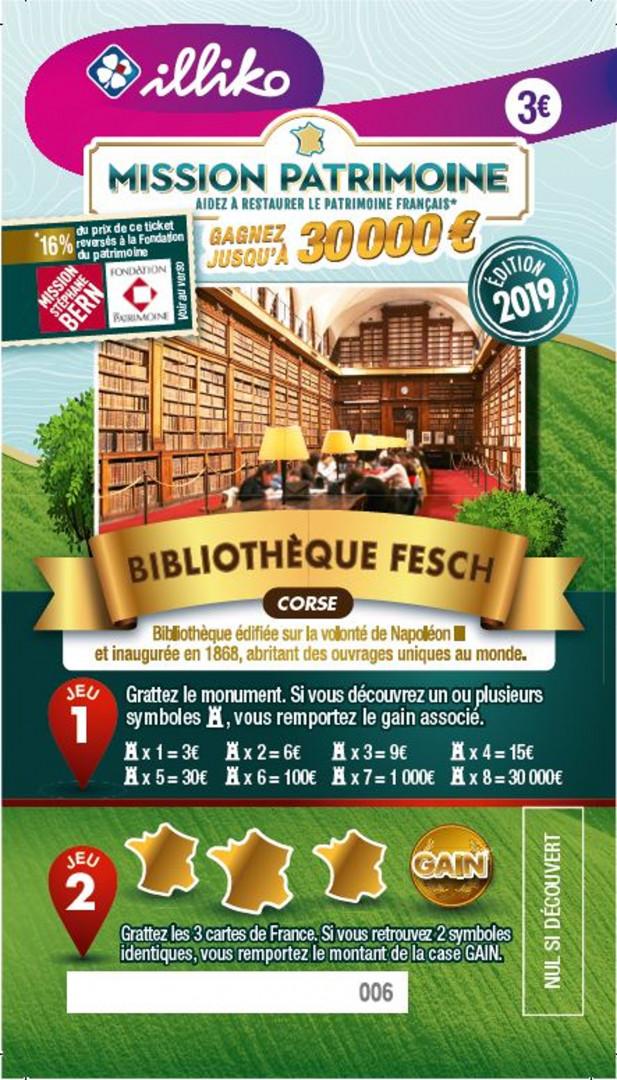 Ticket Bibliothèque Fesch en Corse. Bibliothèque édifiée sur la volonté de Napoléon III et inaugurée en 1868, abritant des ouvrages uniques au monde.