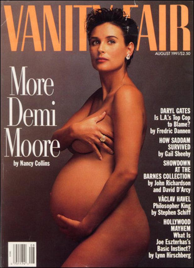 Demi Moore enceinte, août 1991