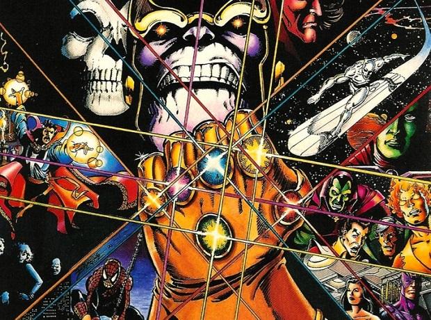 """Le comic """"Le gant de l'infini"""" sera la compagnon idéal de tout bon fan des films Marvel avant l'arrive du prochain Avengers en avril 2018 (17.50€)"""