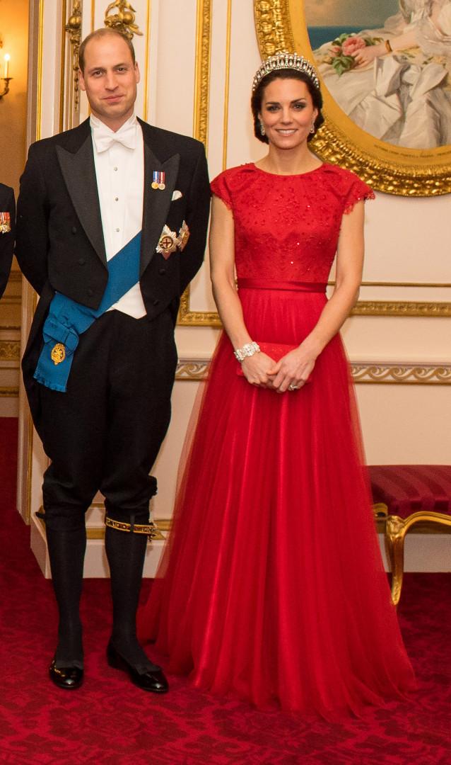 Le couple princier sur son 31 pour la soirée diplomatique de Buckingham Palace