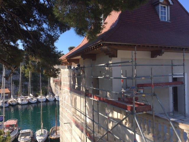 Le château de Port Miou fait l'objet d'importants travaux de restauration