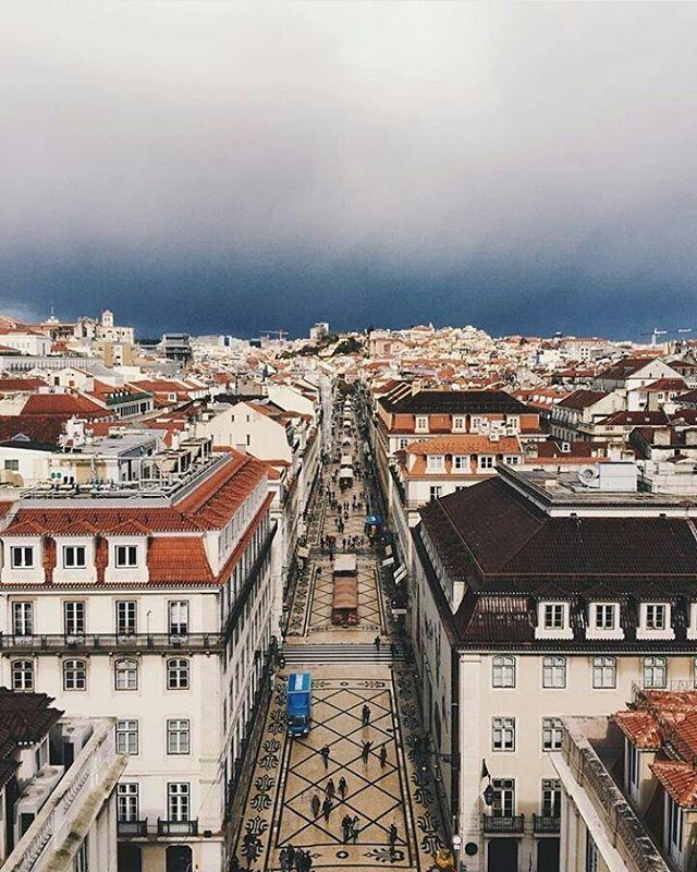 La majestueuse rue Augusta de Lisbonne, au Portugal.