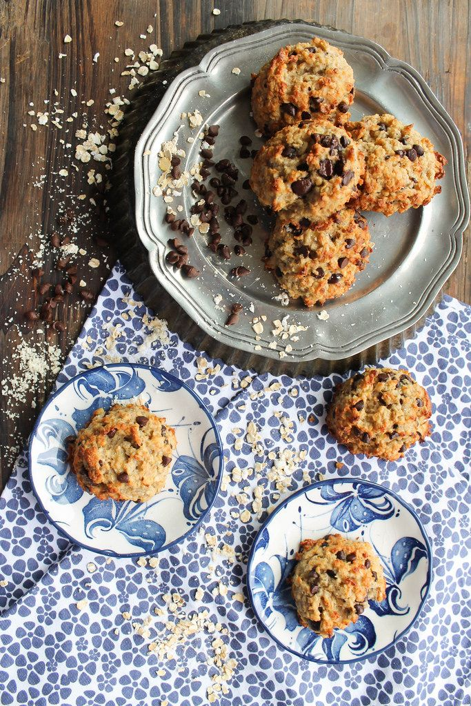 Des cookies à l'avoine et aux pépites de chocolat