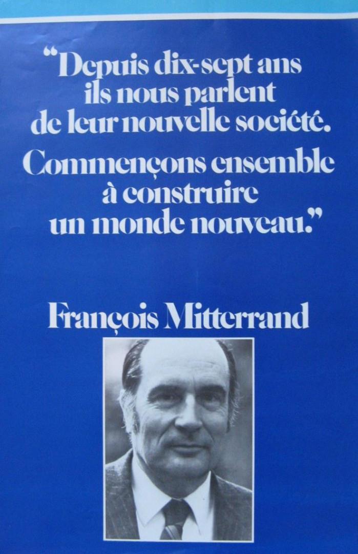L'affiche de campagne de François Mitterand, 1981