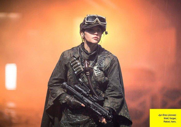 Le personnage de Jyn Erso, voleuse, rebelle, héros.