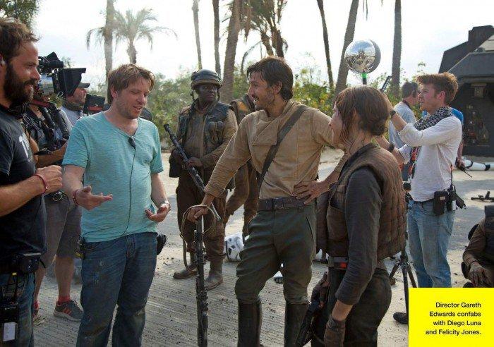 Le réalisateur Gareth Edwards briefe ses acteurs