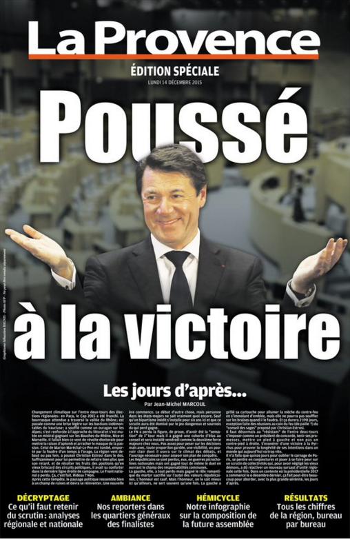 """Christian Estrosi """"poussé à la victoire"""" pour La Provence"""