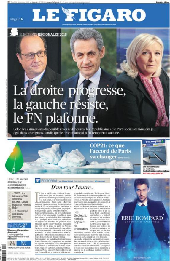 Le Figaro résume le situation après ce second tour