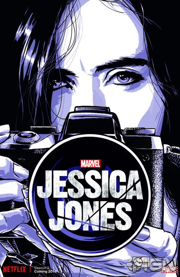 """Le poster de la saison 2 de """"Jessica Jones"""" pour le Comic-Con de New York"""