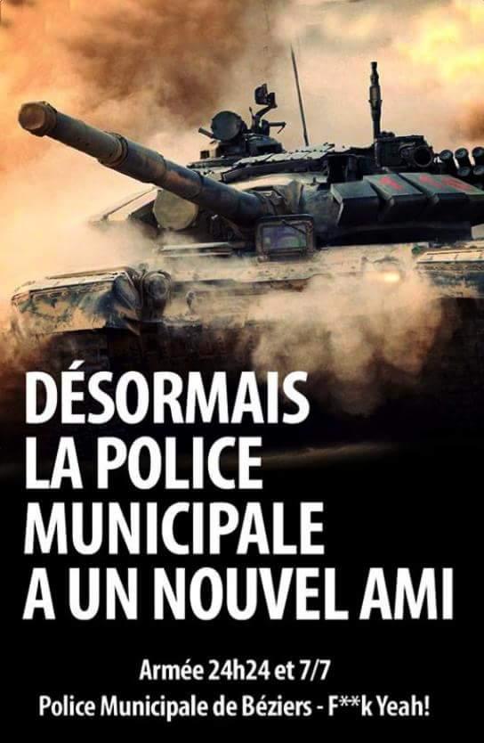 La police municipale équipée de nouveaux chars d'assaut