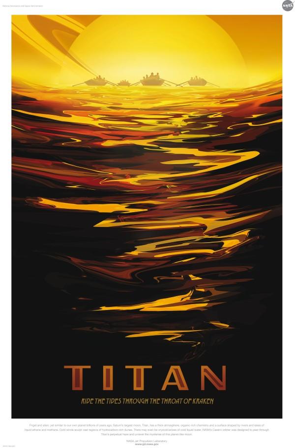 Titan est le plus grand satellite de la planète Saturne. Il était similaire à notre planète il y a des milliards d'années.