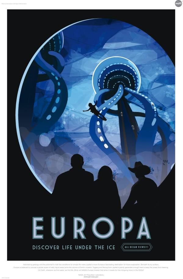 Europe est un satellite naturel de Jupiter. Il dissimulerait un océan d'eau salé deux fois plus grand que l'ensemble des océans de la Terre
